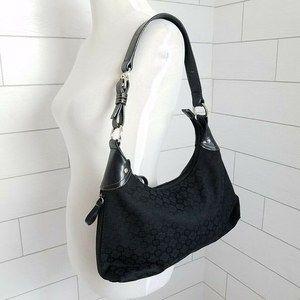 Nine West Hobo Bag Shoulder Purse Black Pocketbook